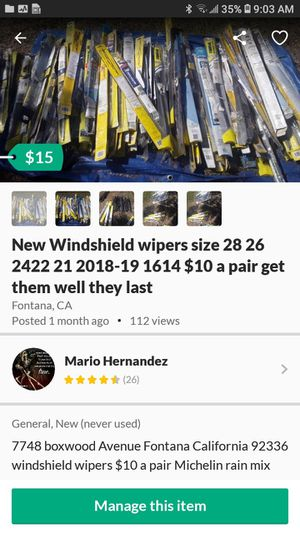 Brand new windshield wipers for Sale in Fontana, CA