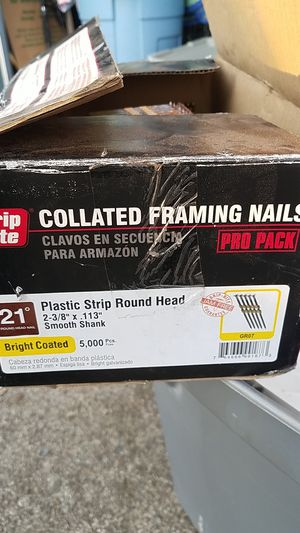 Grip rite collated framing nails for Sale in Cottage Grove, OR