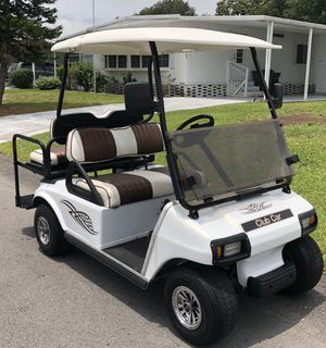Mint Club Car DS 36v Golf Cart with Brand New Batteries and Custom Seats !!! for Sale in Lakeland, FL