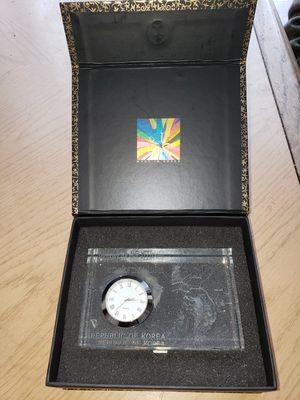 Korean War Memorial Crystal Clock for Sale in Hyattsville, MD