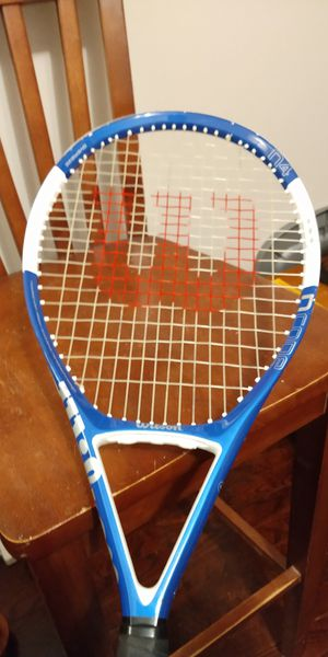 Wilson ncode oversized in for pro racket 4 3/8 record face is 14 and 1/2 in tall 11 in wide for Sale in North Chesterfield, VA