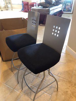 2 metal swivel bar stools $170.00 (fairly new- hardly used ) for Sale in Phoenix, AZ