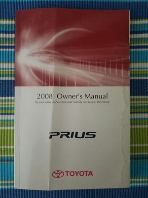 2008 Prius owners manual for Sale in Apex, NC
