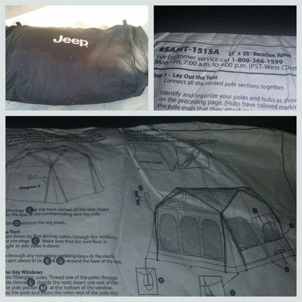 Large Jeep Camping Tent 15x15 for Sale in Phoenix, AZ ...