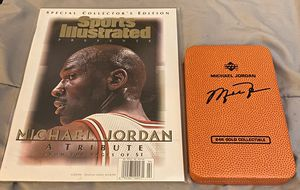 24k Gold Michael Jordan Card + SI Issue for Sale in Glastonbury, CT