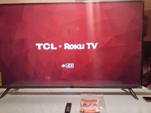 Tcl 65inch 4k roku tv for Sale in Tulsa, OK