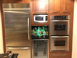 Beautiful Kitchen-Aid Built-Ins (fridge, dual ovens, range, dishwasher, wine fridge, and microwave) for Sale in Oakland Park, FL