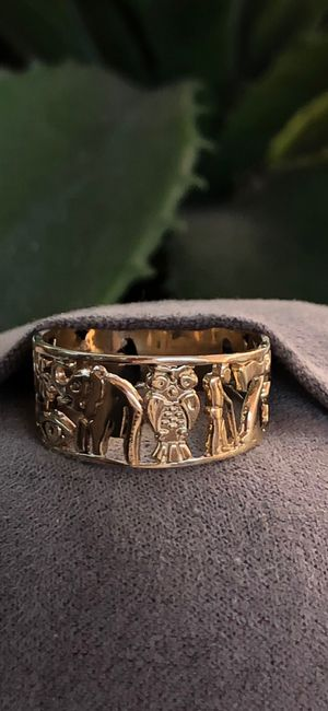 14k gold goodluck ring oro anillo for Sale in South Gate, CA