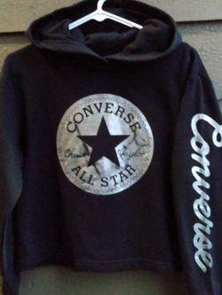 Women's CONVERSE Crop Hoodie [sz S](Pullover, Sweater, Sweatshirt) for Sale in Brier,  WA