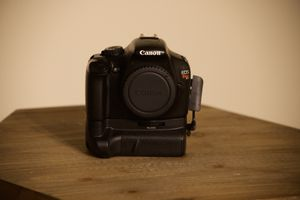 Canon Rebel T3 with 3 lenses (18-55mm, 24mm, 55-250mm), camera bag, strap, battery and charger. NO SD CARD INCLUDED for Sale in St. Louis, MO