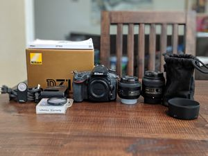 Nikon D7100 camera with lenses and accessories for Sale in Laguna Hills, CA