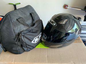Lg HJC carbon motorcycle helmet. for Sale in San Antonio, TX