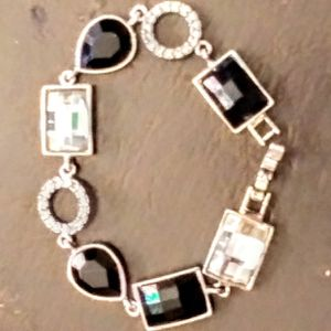 Lia Sophia Bracelet Emeralds Diamonds Crystal Onyx Sapphire Gold Rare They Don't Sell These No More for Sale in Henderson, KY