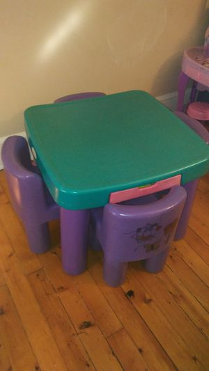 Kids table with 4 chairs for Sale in Hartford, CT