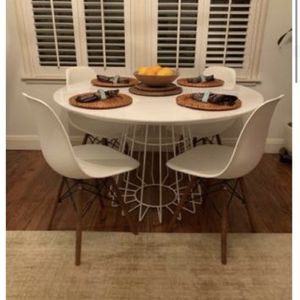 CB2 Dining Table and Chairs for Sale in Visalia, CA
