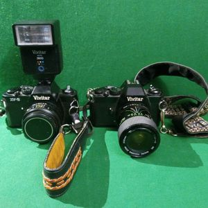 2 Vivitar XV-5 Cameras With Lens! (Tested &Working) 1982! for Sale in Tampa, FL