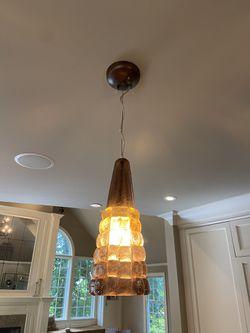 Set of 3 gold lighting pendants for Sale in Saddle River,  NJ