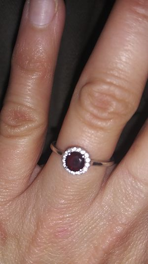 Diamond and garnet ring for Sale in Raytown, MO