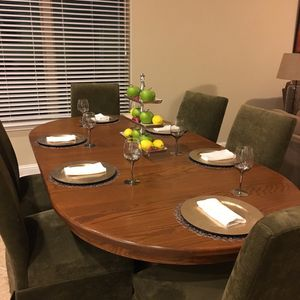 Hardwood Dining Room table with Chairs for Sale in Denver, CO