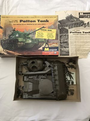 """All Plastic Scale Model U. S. Army 50 Ton """"Patton Tank"""" Made By Monogram Company for Sale in Reedley, CA"""