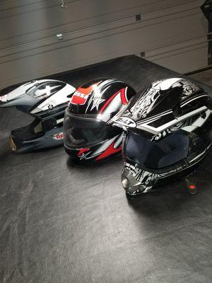 3 Motorcycle Helmets for Sale in Rowlett, TX