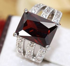 925 Sterling Silver Ruby Topaz Gemstone Wedding Rings Women size 6 for Sale in Moreno Valley, CA