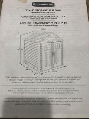 Rubbermaid shed 7x7 for Sale in Murrieta, CA