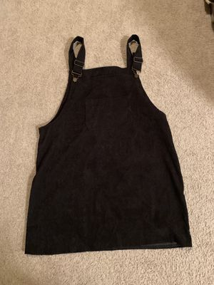 Black Corduroy Overall Dress for Sale in Riverside, CA