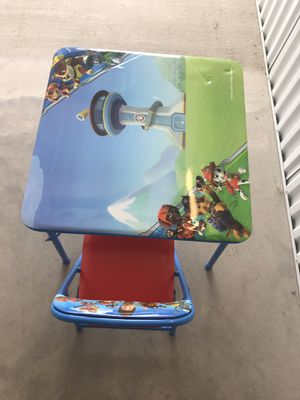 Paw Patrol kids table and chair for Sale in Little Elm, TX