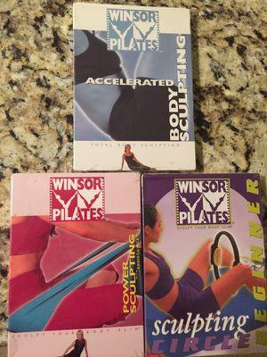3 sealed windsor pilates workout dvds for Sale in Frederick, MD