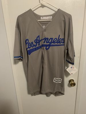Clayton Kershaw #22 gray Los Angeles dodgers jersey for Sale in Los Angeles, CA