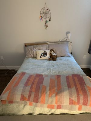 Full bed (frame and pillow top memory foam mattress) for Sale in Washington, DC