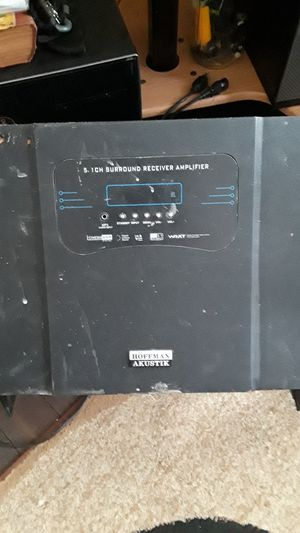 5.1 surround sound receiver amplifier + subwoofer for Sale in Indianapolis, IN