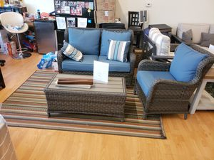 Brand New Patio Furniture rocker loveseat and two chairs and table for Sale in Hayward, CA