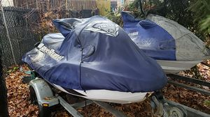 2 Yamaha 1200cc waverunners XLT&GPR with trailer for Sale in Bayville, NY
