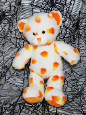 """HALLOWEEN Build a Bear Candy Corn Teddy Bear White Orange Yellow Plush 16"""" toy for Sale in Dale, TX"""
