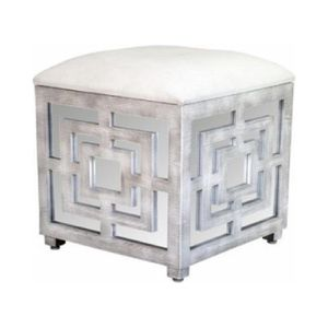 Statements by J Reema Mirrored Cube Ottoman for Sale in New York, NY