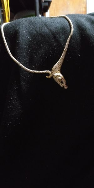 Jaguar necklace gold and silver with stones and diamonds regularly $600 brand new for Sale in Dixon, CA