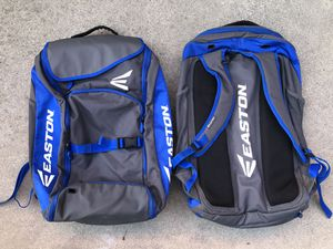 Softball bags in great condition equipped gear bats gloves Easton for Sale in Culver City, CA
