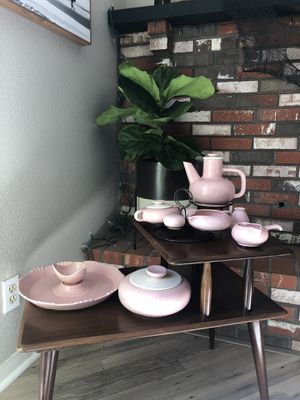 Mid Century 1950's 12pc Pink Speckled Ceramic Set for Sale in Carlsbad, CA
