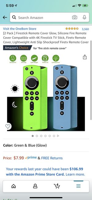 *NEW* Amazon Firestick Remote Cover glow in the dark 2-pack for Sale in Riverside, CA