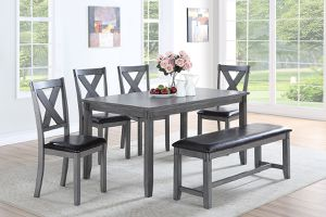 6-Pc Grey Dining Set for Sale in Fresno, CA