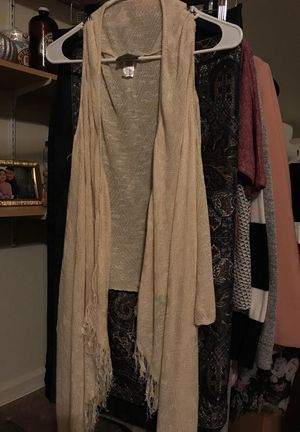 M sleeveless boho fringe cover up for Sale in American Canyon, CA