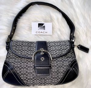 Authentic Black and Gray Coach Purse (Small Shoulder Bag) for Sale in Chandler, AZ