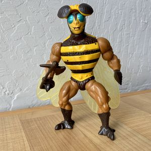 Vintage Heman and the Masters of the Universe Buzz Off Bumble Bee Man Action Figure Toy Complete With Helmet, Wings & Weapon Axe for Sale in Elizabethtown, PA