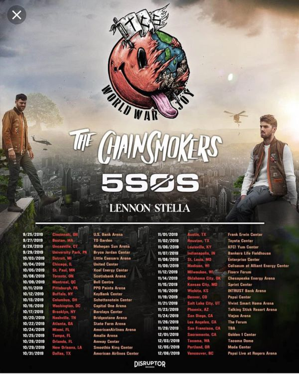 Chainsmokers & of Summer tickets!! Washington DC