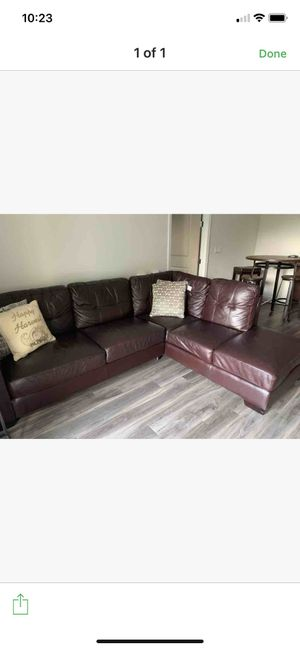 Sofa couch leather sectional for Sale in Orlando, FL