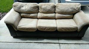 Tan & black sofa. for Sale in Wimauma, FL