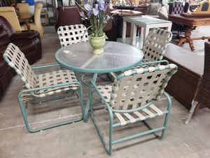 Patio table w/4chairs 🎃 We are located at 2811 E. Bell Rd. We are Another Time Around Furniture for Sale in Phoenix, AZ
