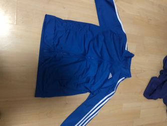 Blue adidas sweater size L for Sale in Springfield,  VA